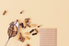 Una cucchiaiata delle droghe Fotografia Stock