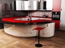 Una cucina moderna Immagine Stock