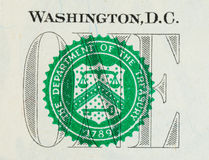 Una cuenta de dólar Imágenes de archivo libres de regalías