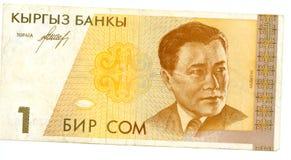Una cuenta del som de Kirgizia Fotografía de archivo libre de regalías
