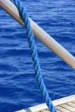 Una cuerda azul Foto de archivo