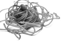 Una cuerda en blanco y negro Fotos de archivo
