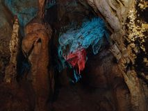 Una cueva en 3 colores Imagen de archivo libre de regalías