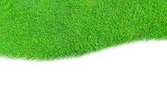 Una curva dello spazio in bianco dell'erba verde isolata Immagini Stock Libere da Diritti