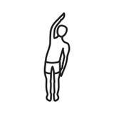 Una curvatura del braccio lasciata royalty illustrazione gratis