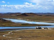 Una curvatura di diciotto curvature del fiume Giallo Immagine Stock Libera da Diritti