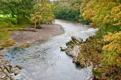 Una curvatura nel fiume Lune Fotografie Stock