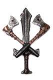 Una daga y dos hachas Imagen de archivo libre de regalías