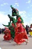 Una danza popolare punjabi fotografie stock
