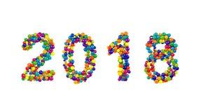 una data da 2018 anni per le celebrazioni festive del nuovo anno Fotografie Stock Libere da Diritti