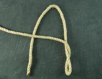Una A de la cuerda fotografía de archivo