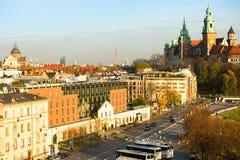 Una de las calles en el centro histórico de Kraków Fotografía de archivo