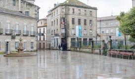 Una de las calles de la ciudad histórica de Pontevedra Fotografía de archivo