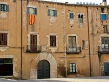 Una de las casas más viejas de Girona antigua Imagen de archivo libre de regalías