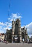 Una de las muchas iglesias históricas en Gante Fotografía de archivo