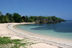 Una de las playas en Roatan Imagen de archivo