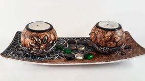 Una decoración de la vela imagen de archivo libre de regalías