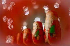 Una decoración de las tarjetas de Navidad y una tierra trasera Fotografía de archivo libre de regalías