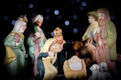 Una decoración de las tarjetas de Navidad y una tierra trasera Foto de archivo