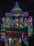 Una decoración hermosa en una ocasión hindú imagenes de archivo