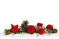 Una decoración más baja de la Navidad con la estrella roja Imagen de archivo