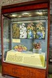 Una decorazione architettonica comunemente usata in Guangdong, fatto di calce, ha chiamato la plastica grigia immagine stock