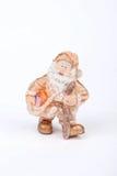 Una decorazione di natale con Santa Claus su fondo bianco Fotografia Stock