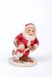 Una decorazione di natale con Santa Claus su fondo bianco Immagini Stock Libere da Diritti