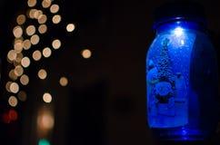Una decorazione di Natale della luce del blu Immagini Stock