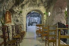 Una delle cappelle della chiesa della caverna nella collina di Gellert frana Budapest, Ungheria Immagine Stock