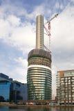 Una delle costruzioni di appartamento più alte a Londra nel progresso della costruzione Fotografia Stock