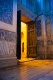 Una delle porte nella chiesa di Hagia Sophia a Costantinopoli Fotografie Stock Libere da Diritti