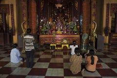 Una delle tempie buddisti a Hanoi Immagini Stock Libere da Diritti