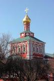 Una delle torri del Novodevichy convent2 Fotografia Stock