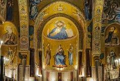 Una delle tre absidi di Cappella Palatina - Palermo Fotografia Stock