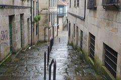 Una delle vie della città storica di Pontevedra Immagine Stock