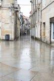 Una delle vie della città storica di Pontevedra Immagini Stock