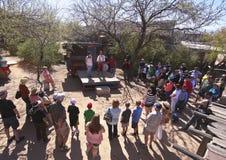 Una demostración de la medicina de Tucson viejo, Tucson, Arizona Foto de archivo libre de regalías
