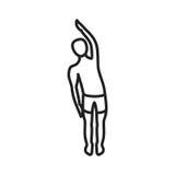 Una destra della curvatura del braccio illustrazione vettoriale