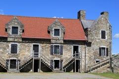Una di molte costruzioni di pietra a Ticonderoga forte storico, New York, 2014 Fotografie Stock