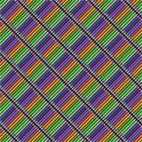 Una diagonale multicolore disegna a matita il modello senza cuciture Fotografia Stock