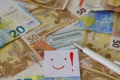 Una dichiarazione tedesca di imposta Immagine Stock