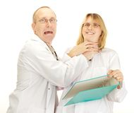 Una discussione dei due medici Immagini Stock