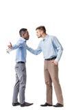 Una discussione di due uomini d'affari Immagini Stock