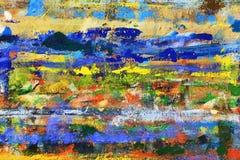 Una disposizione caotica dei punti di pittura sul bordo Fotografia Stock