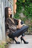 Una donna alla moda Fotografie Stock