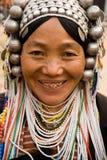 Una donna anziana dal gruppo etnico di Akha Fotografia Stock