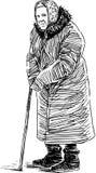 Una donna anziana su una passeggiata Fotografia Stock Libera da Diritti