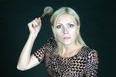 Una donna arrabbiata Immagine Stock