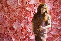 Una donna che aspetta il suo neonato fotografie stock